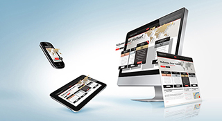 multiple devices showing responsive web design